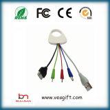Nuevo cable de datos USB colorido Cable de ordenador con logo Imprimir
