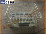 Cer zugelassene zusammenklappbare stapelbare Stahlmaschendraht-Ladeplatten-Behälter