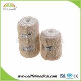 Fasciatura elastica del Crepe dello Spandex del cotone di colore naturale