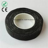 黒いファイバーの絶縁テープの製本の付着力の布テープ