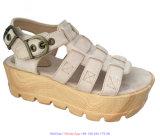 Flache elastische Form EVA-Schaumgummi-Sandelholz-Frauen-Gladiator-Schuhe