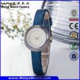 Orologio casuale delle signore del quarzo della cinghia di cuoio del ODM (Wy-089A)