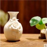 Florero elegante de cerámica con los conjuntos del regalo del difusor de la caña del petróleo esencial del aroma para la decoración casera
