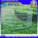 Cage de treillis métallique d'acier doux pour le chat de crabot de cerfs communs