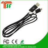 Нейлоновые экранирующая оплетка синхронизации данных зарядное устройство USB зарядки через USB-кабель