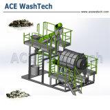 Los residuos de la agricultura/Gases de Efecto/Negro/Película/Lavado de hojuelas de máquina de reciclaje
