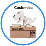 Neuer Entwurfs-Hund, der elektronischen Münzen-Bank-Geld-Plastikkasten stiehlt