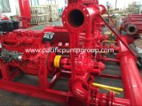 Usine d'alimentation, 500gpm ensemble de la pompe incendie homologuées UL, Split cas ensemble de la pompe incendie