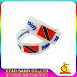 L'alta qualità colora la fascia del silicone, braccialetto chiaro della gomma di silicone per gli sport