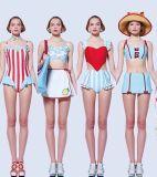 영국 작풍 소녀 학교 형식 여자 의복 비키니 수영복