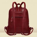 Мешок школы Backpack повелительницы PU сбор винограда кожаный (WDL0918)