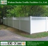 Различная загородка ярда PVC типа
