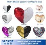 Heart-Shaped Nixesequin-Kippen-Kissenbezug (STB-CMRY40)