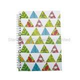 Personalizar um5 Espiral capa dura impressa Papelaria Notebook diário