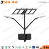 Brazo de doble lámpara LED 30W de calle la luz solar calle