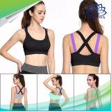 Spingere verso l'alto il reggiseno di sport delle donne per la biancheria intima atletica riempita della maglia del serbatoio di ginnastica di donne della cinghia della traversa di yoga di forma fisica