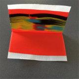 Centro personalizado pliega cinco colores etiquetas tejidas etiquetas para prendas