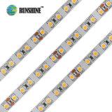 Alto brilho de 120 LEDs 9.6W/M de tiras de leds flexíveis