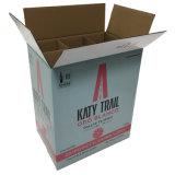 White Corrugated 2 Bottles Packing Wine Box with Logo