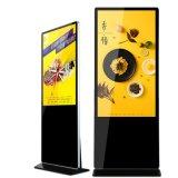 65 Inch trépied de sol souple pliable réseau Android Kiosque d'affiches de la publicité numérique Media Player pour restaurant