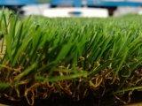 Breve erba artificiale fibrillata del prato inglese falso di tennis e del hokey