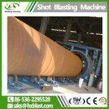 Tubo de Aço ISO roda na parede externa da máquina de jateamento, Barra Redonda Granalhagem a máquina