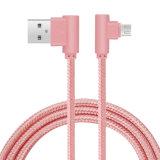 C3500 2.4A 1m 90degrés câble de données USB micro (rose GOLD)