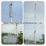 Башня радиосвязи Поляк горячего DIP гальванизированная стальная трубчатая