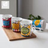 V-vorm van de Mokken van de Koffie van China de Ceramische/het Embleem van het Bedrijf
