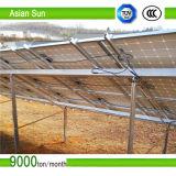 Montaggio solare a terra del comitato fotovoltaico - parentesi