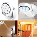 LED Lampe à lampe à capteur activé sans fil Lampes murales à rotation 360 degrés Lampe de porche blanche pour intérieur et extérieur