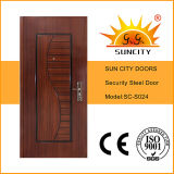 Porte en acier inoxydable en acier inoxydable, cadre en acier (SC-S024)