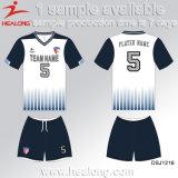 축구 제복을 인쇄하는 Healong 중국 디자인 의복 기어 디지털