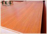 1220*2440 (4*8) madera contrachapada de la melamina del grano de la nuez negra de 6/9/12/15/18m m/de la ceniza/de la cereza con el pegamento de WBP para los muebles/la decoración