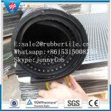 Волокном черная резиновая стабильной коврики, Cowshed резиновый коврик