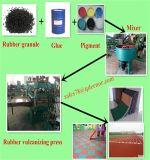 Gummireifen-Abfallverwertungsanlagen-Geräten-/Schrott-Gummireifen-Krume-aufbereitende Zeile/Gummipuder, das Pflanze bildet