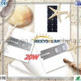 20W統合されたリチウム電池LEDの通りの太陽ライト
