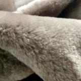 Guarnición merina australiana teñida receptor de papel del zapato de la piel de la zalea