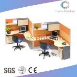 Sitio de trabajo modificado para requisitos particulares moderno de la oficina de los asientos del cubículo dos (CAS-W1771534)