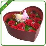 Caixa de presente de flores em forma de coração para o dia dos namorados