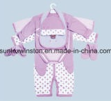 Roupa ajustada ajustada do Roupa-Infante do bebê 8PCS do presente recém-nascido do bebê