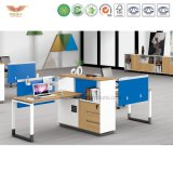 Самомоднейшая рабочая станция офисной мебели модульная деревянная (H90-0216)