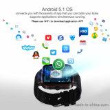 人間の特徴をもつシステムGPS+WiFiのスマートな腕時計の電話