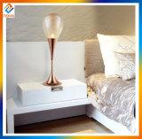 Просто стеклянный светильник таблицы украшения с кристаллический конструкцией падения воды