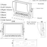 """Sistema atado con alambre Digitaces del coche con monitor de 7 el """" TFT LCD"""