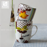Form-Porzellan-Tee-Becher der Trommel-14oz Selbst Entwurfs-Drucken