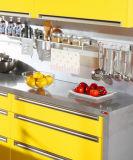 Brilliant Gloss Branco e vermelho Armários de cozinha UV (ZX-028)