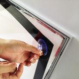 Caixa leve da foto magnética magro de alumínio do frame A4