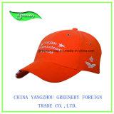 Neue Entwurfs-Nizza Stickerei-orange Baseballmütze