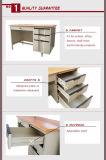 Mesa de madeira do computador do metal da tabela do escritório do alto executivo com seis gavetas